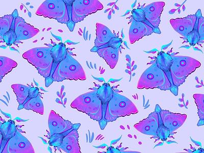 Moth nature moth butterfly pattern palette draw didgitalart artwork illustraion color art