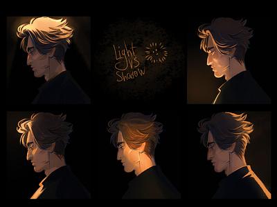 Sketches study shade light shadow boy palette artist draw didgitalart color artwork illustraion didgital character art