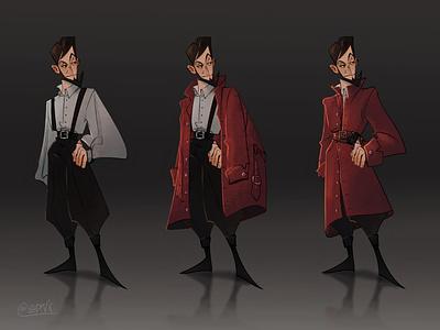 Corsair clothes red personage concept corsair digital art art character design artwork guy boy didgitalart illustraion didgital character