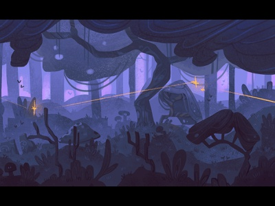 Magic forest ch.1 background nature palette artwork didgitalart illustraion didgital color