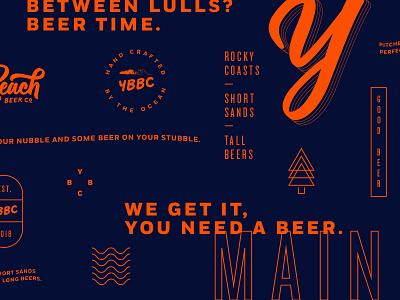York Beach Early Peek branding identity secondary marks maine brewery beer