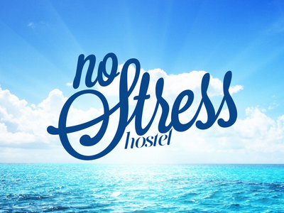 No Stress Hostel typography хостел hostel логотип logo лого logotype logos graphic design design branding