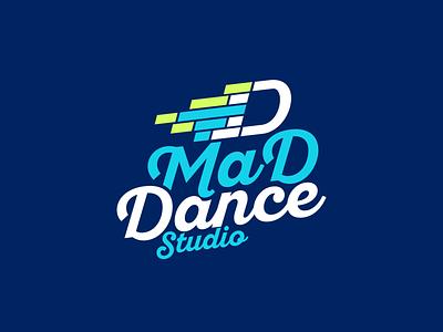 Mad Dance Studio логоарт фирменный стиль бренд studio dance студия танцы типографика брендинг logo design logodesign typography логотип лого logotype logos logo graphic design design branding
