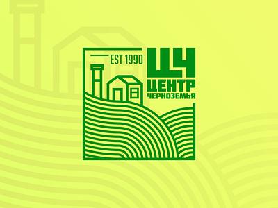Центр Черноземья village иллюстрация ферма conpany farm logotype design logotypedesign logo design logodesign logotype illustration брендинг логотип лого logos logo graphic design design branding