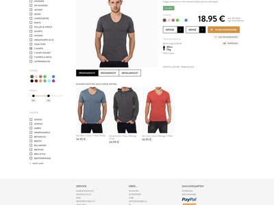 Onlineshop redesign minimalistic white clothing usability shop progress interface screendesign ux ui