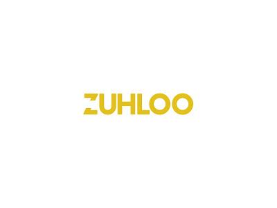 ZUHLOO Blog Logo logotype design corporate zuhloo bold sans serif gold typo typography logo blog