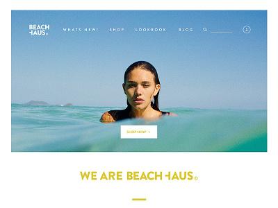 BEACHHAUS Swimwear screendesign water gold bikini swimwear wallpaper simple beach typo webdesign shop ecommerce
