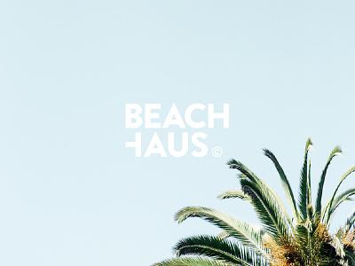 BEACHHAUS Logo design corporate swimwear font brandon summer palms beach typography type logo