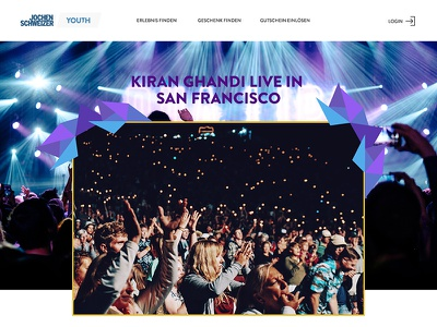 Jochen Schweizer Youth Concept (Product Page) icons light brown orange desktop web interface images ux ui sport action