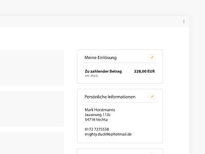 Checkout Process at Jochen Schweizer e-commerce finish pay interface ux ui concept checkout
