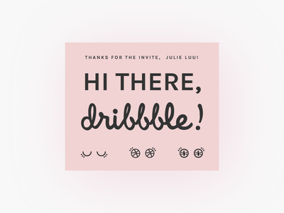 Hi there, Dribbble! invite icons illustration first debut