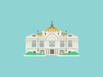 Palacio de Bellas Artes palace alberto j. pani federico ernesto mariscal piña adamo boari illustration vector artes bellas mexico cdmx arquitectura ilustrada architecture