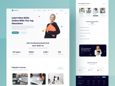 Learning Online Landing Page UI ui kit buy download product website page landing e-learning course learn learning online