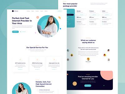 Internet Provider Landing Page UI testimoni testimonial pricing sim provider internet ui design kit buy download product website page landing