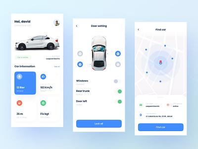 Car Control Mobile App UI light navigation map tesla app mobile control car ui download buy kit product