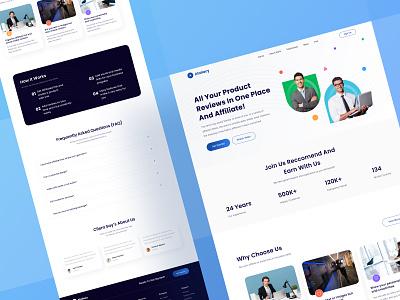 Affiliate Marketing Landing Page UI testimonial consultation website branding business marketing affiliate page landing ui download buy kit product