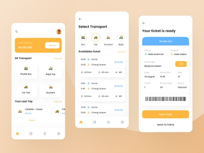 Public Transport Booking Mobile App UI bus transport public rent car taxi android ios app mobile design ui download buy product kit