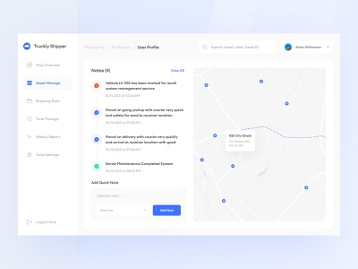 Parcel Delivery Dashboard UI package track shipping map tracking parcel dashboard design download buy product kit