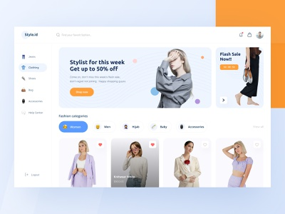Fashion Store Dashboard UI style jeans clothing clothes website dashboard store fashion design ui download buy product kit