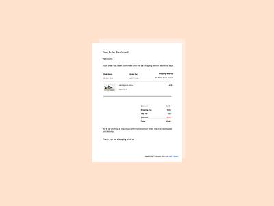 daily ui 017 017 dailyuichallenge adidas ui design dailyui email receipt