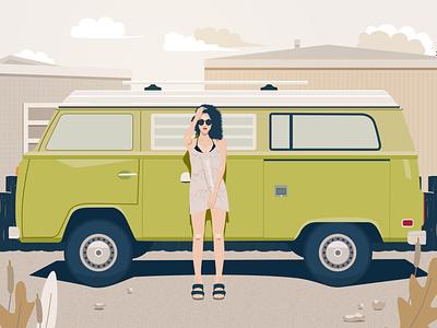 Cool girl travel travel ui girl cool girl illustration