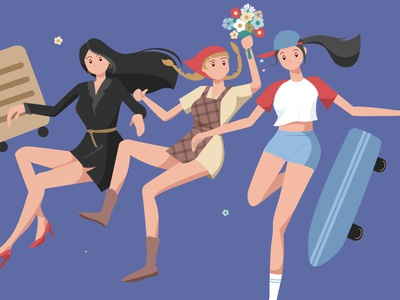 International Women's Day gardener workplace woman workplace woman sports girl illustration girl