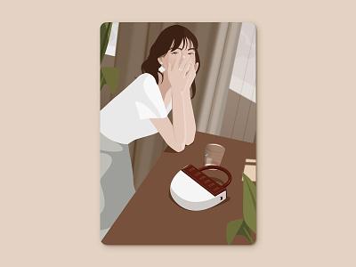 Miss flower ui flower girl illustration