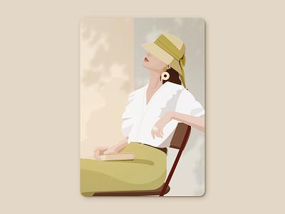 Summer sunshine shade summer ui girl illustration