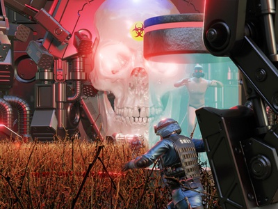 Alternate Verse - Lock-down Art animation 3d art swat skull dark blender render 3d