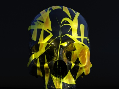 Painted skull animation animation design skull blender 3d