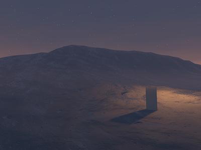 Random 1:4:9 art scifi space monolith c4d 3d art 3d