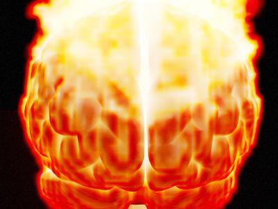22 05 2019 Fire Brain blender 3d art 3d