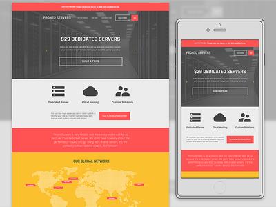 Data Hosting Company Landing Page Design mobile webdesign color ui website illustration flat clean web design responsive layout landing page