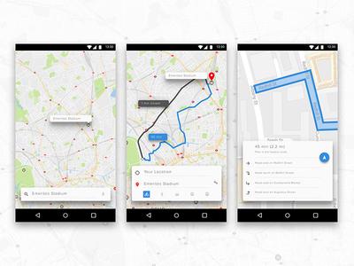 Day 44 Simple Navigation Widget  ux design ui app navigation maps