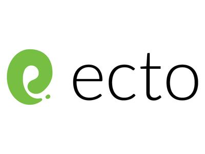 Ecto Logo Design database ecto elixir design branding logo