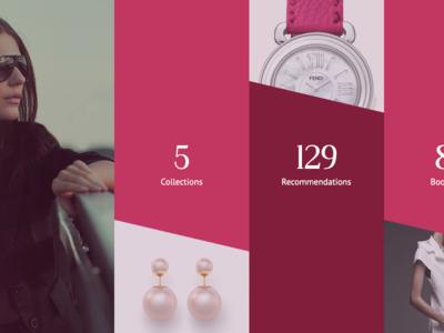 Luvocracy - Profile Page flat ecommerce shopping fashion profile page feminine web user interface ui website web design