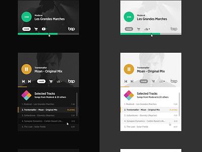Bop Web Player gif flat music player user interface animation ux ui app