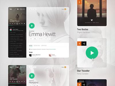 Bop Site music user interface ui web web design website