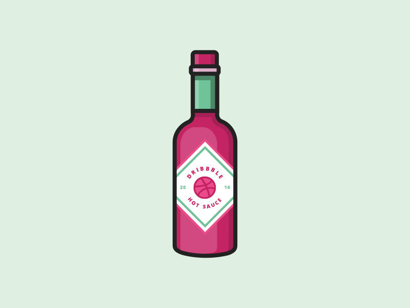 Dribbble Hot Sauce sticker mule hot sauce illustration rebound dribbble