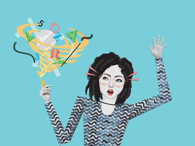 Revize School's Website Illustrations branding illustrator photoshop lady attire teaching teacher schools government illustration