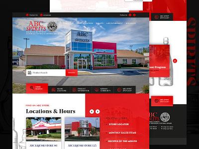ABC Mecklenburg County, NC - Homepage web spirits abc branding homepage