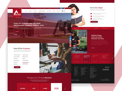 Alpena Community College Website interior page michigan service logo ux homepage web education college community