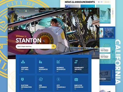City of Stanton, CA Homepage + Interior interior page community california design service ux homepage web government