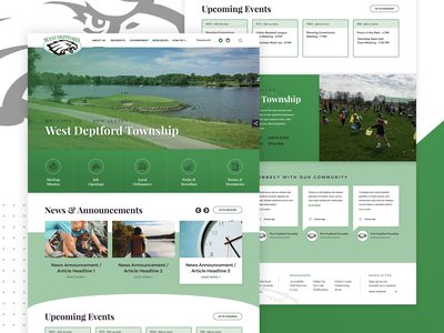 West Deptford, NJ Homepage + Interior new jersey eagle service community ux design homepage web government
