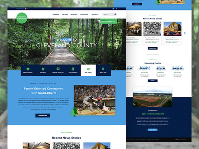 Homepage Redesign - Cleveland County, NC government townships nc design web
