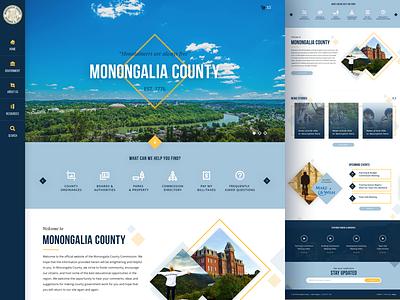 Monongalia County, WV Homepage Redesign county west virginia government design ux web