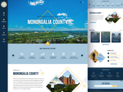 Monongalia County, WV Homepage Redesign