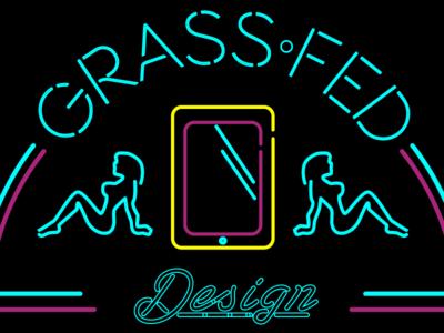 Neon Grass Fed Logo logo graphic design branding ux vector ai