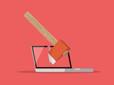 Hackathon Laptop hack illustration illustrator vector