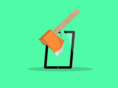 Hackathon Tablet illustration illustrator vector hack